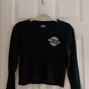 hollister black and white long sleeve ✰ ✰